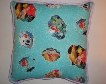 Little Mermaid, Flounder, and Sebastin Pillows
