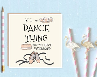 Ballerina Blank Greeting Card, ballet card, ballet, ballerina, ideal for ballet lovers and ballerina's