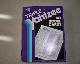 Vintage Sealed Box Of Milton Bradley Triple Yahtzee Score Cards