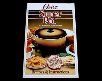 Oster Super Pot Instruction Manual & Recipe Booklet for All-Purpose Electric Cooker