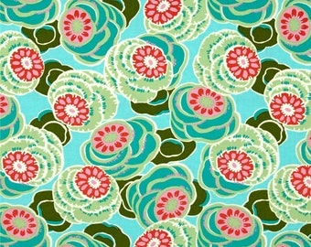 11304 Amy Butler PWAB155 Dream Weaver Clouded floral in seaglass color - 1 yard