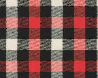 Buffalo Plaid Flannel Crib Bedding, Fitted Crib Sheet, Lumberjack Nursery, Rustic Baby Boy Bedding, Buffalo Check Gingham Woodland Black Red