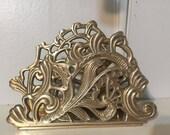 Art noveau brass letter mail organizer. Gorgeous brass Scrolling. Fig House Vintage on Instagram for sales