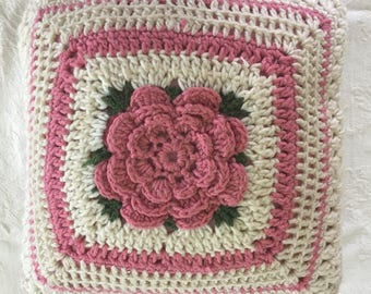 Vintage crocheted pillow
