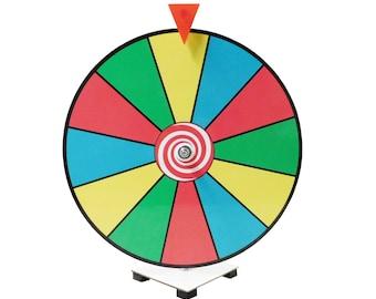 "Spin It Game / 16"" Prize Wheel / Dry Erase Spinning Prize Wheel / Kid Safe Pegless Design Trade Show Prize Wheel /"