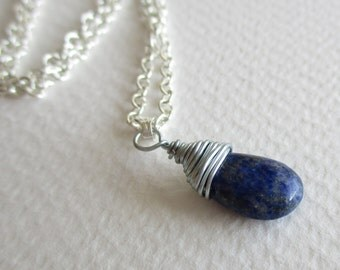 Lapis lazuli gemstone necklace - healing, joy, love, protection