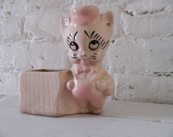 Vintage Ceramic Pig Planter