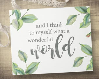 Wonderful World Sign - Wall Canvas - Gallery Wall Art - Wall Decor - Modern  Farmhouse - Canvas Quote Sign - Home Decor Gift - Canvas