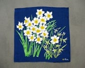Vintage Vera Daffodil Narcissus Cloth Napkins or Placemats Set of 8