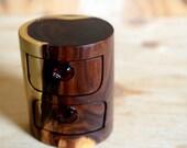 My Desert Heart box. Black Wattle desert timber box. Wood box.  bandsawn with handmade topaz glass drawer pull