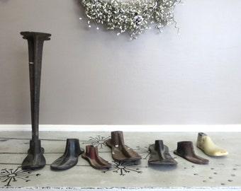 Cast Iron Cobbler Shoe Forms Cast Iron Shoe Stand Adams Warranted Cast Iron Decor Door Stop Hat Rack Primitive Decor Industrial Decor