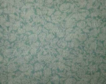 Vintage Blue Cotton Fabric - Floral Fabric