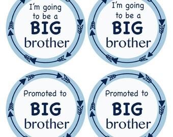 Big Brother Sticker, Baby Announcement Sticker, Promoted to Big Brother, Going to be Big Brother, Big Bro Sticker, Sibling Sticker (642)