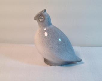 Howard Pierce California MCM Quail Porcelain Figure Gray Spackled Retro 1950's