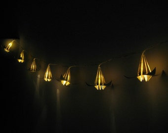 Map string light-Christmas string light-LED string light-atlas lilies lights- origami lights-gift for travelers-bedroom light-warm light