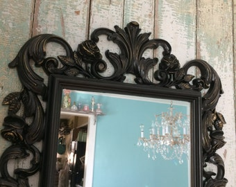 Large Vintage mirror/chalkboard, French baroque Baby girl, decorative baby nursery