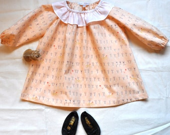 18 Month Ruffle Collared Long sleeve Dress
