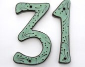 Large Address Numbers - Outdoor Custom House Numbers or Letters - Set of 2 - 8 inch or 7 inch Size - Aqua Mist Color - MADE TO ORDER