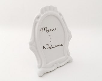 Dry Erase Board - Menu Board - Vintage Kitchen Decor - Custom Menus - Welcome Sign - Store Display - Whiteboard