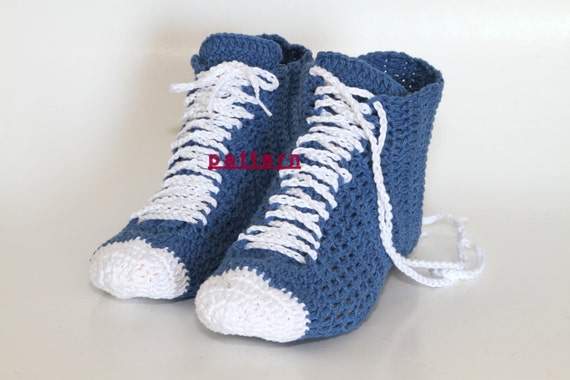 Crocheted Unisex Sneaker high top shoes Unisex Slippers