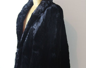1940s Black Fur Cape