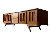 MONUMENTAL Mid Century Modern CREDENZA media stand