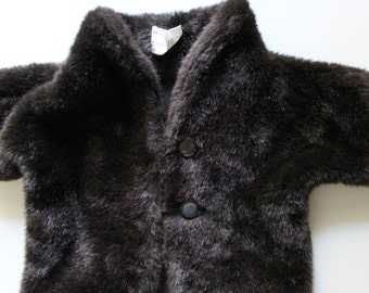 Vintage Lauren Bearcall Faux Fur Coat 1983