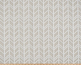 Gray White Herringbone Cove Curtains Bogatell  Rod Rocket  63 72 84 90 96 108 120 Long x 25 or 50 Wide