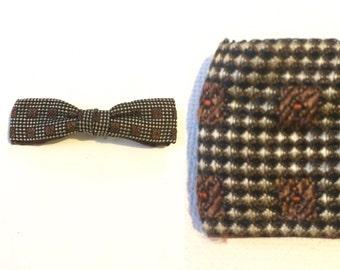 Vintage 40s 50s Brown Bowtie / Clip On Bow Tie / Rockabilly Bowtie