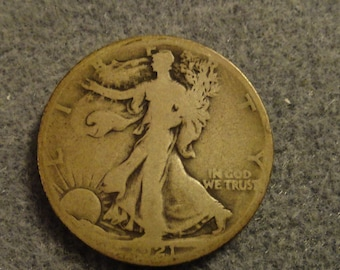 1921-S Walking Liberty SILVER Half Dollar- KEY DATE