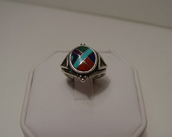 Multi Turquoise Inlay Ring