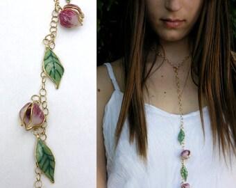 Nature necklace, Romantic jewelry. Nature inspired  jewelry, Nature inspired necklace, . Beautiful necklace. Multi use, Creative jewelry.