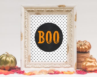 Boo Halloween Printable | Halloween Decor | 8x10 - INSTANT DOWNLOAD