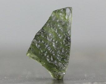 Moldavite Specimen Meteorite of Cosmic Origin Olive Green Translucent Gemstone (CA6891)
