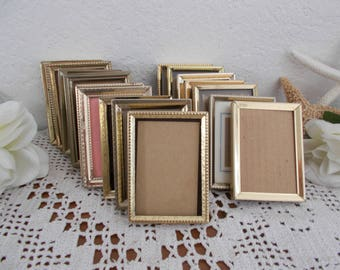Vintage Gold Metal Picture Frame 2.5 x 3.5 Photo Decoration Mid Century Hollywood Regency Home Decor Rustic Shabby Chic Wedding Table Number