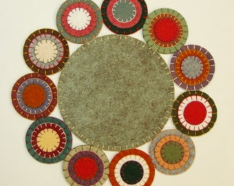 Forbidden Forest Candle Mat Penny Rug DIY Kit + Embroidery Floss