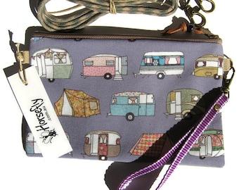 NEW Caravan tent camping bag pouch wristlet handmade in Australia Horsefly