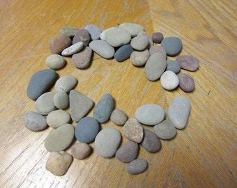 40 Hand Selected Beach Stones Lake Michigan Stone Craft Mosaic Stone Supplies