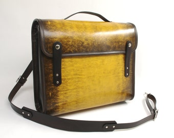 Leather Messenger Briefcase v1