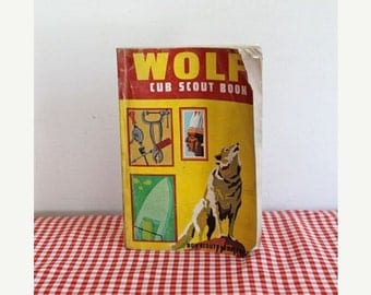 20% off SALE vintage 1969 WOLF cub scout book by boy scouts of America