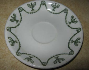 O.P.Co. Syracuse China Green St. Elmo Demitasse Saucer Only 1940's