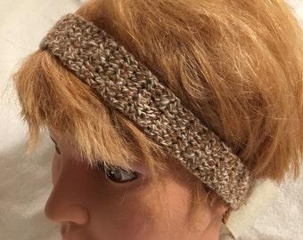 Crocheted Natural Alpaca Headband