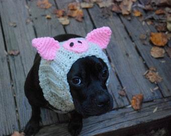 Dog Snood Beige Pig Made to Order