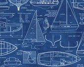 Boat Blueprints from Timeless Treasure's Sail Away Collection
