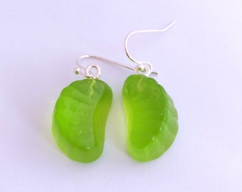 Lime candy earrings
