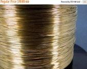 10% Sale Gemshow 20 ft 14k Gold Fill Wire-- 26 Gauge Gold Fill Round Half Hard Wire-- PER 20 FEET Bulk wire