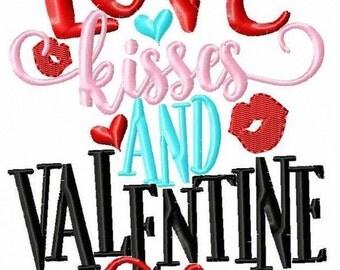 Love, kisses and Valentine wishes! - Girl's Valentine's Day Applique Shirt - Girl's Design - Vday shirt - Valentine - monogram shirt