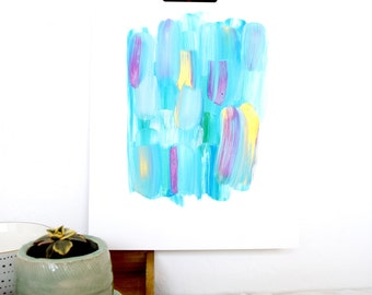 Abstract Painting, original art, brush stroke painting, messy abstract, gold paint