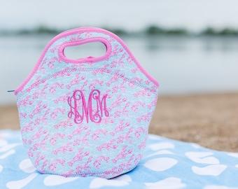 Lilly Inspired Monogram Lunch Bag
