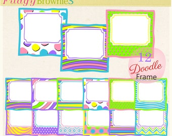 ON SALE digital scrapbooking frame clip art, frame clip art: Whimsical Frame Clip Art, A-221
